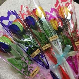 彩虹🌈香皂花🌹Rainbow Soap Flower