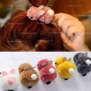 【Her Majesty的秘密花園】ins萌系可愛羊羔毛兔子造型ㄚ夾髮飾髮夾SHC043