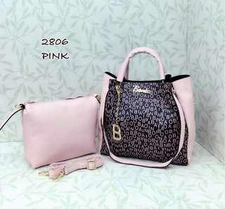 Bonia Tote Bag 2 in 1 Pink Color