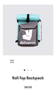 🚚 Brand new deliveroo rollup backback light sleek modern and easy to carry