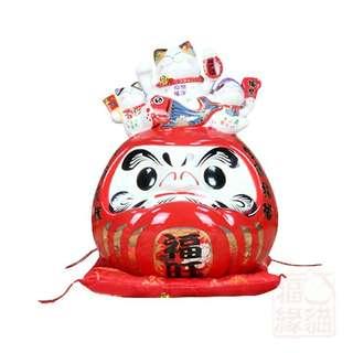 Wish come true lucky japan daruma fortune cat