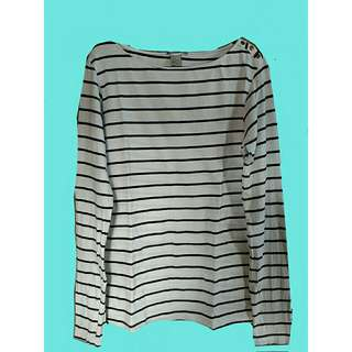 H&M BnW Stripes Pullover