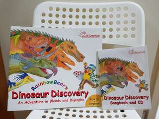 BN Rainbow Bear Discover Dinosaurs from Julia Gabriel Creations set