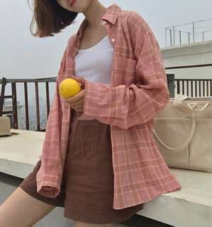 [PO] Checkered Top in Pink