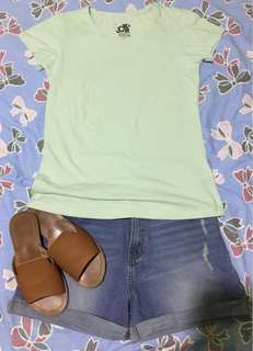 Mint Green Cotton Tee