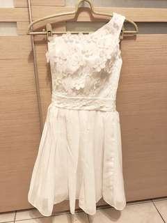 🚚 伴娘服 伴娘禮服 白色 短版