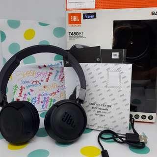 JBL WIRELLES ON-EAR Headphone T450BT -Black ORI