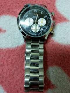 🚚 全新 BENYAR  賓雅 手錶 BY-5107M 防水 鋼帶手錶 三眼計時日曆 石英錶