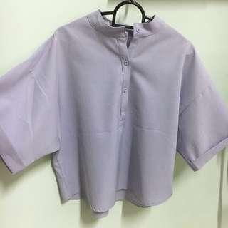 Korean lavender top
