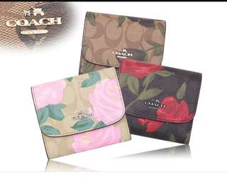 COACH CAMO FLOWER SMALL WALLET ( F25930 )