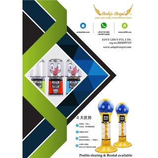 Capsule Machine, Rental or Profits Sharing
