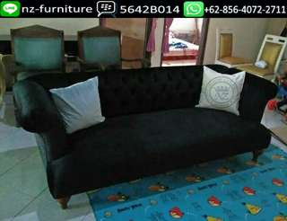 Sofa Bed Black Shabby