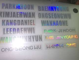 Wanna one hologram sticker