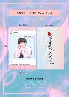WANNA ONE FAN SUPPORT PHOTOCARDS