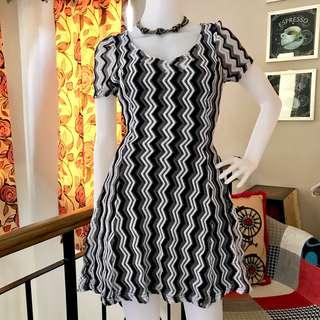 Zigzag Pouf Dress