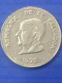 Salvador 25 Centavos Y1973