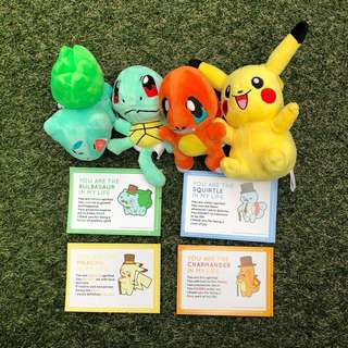 POKEMON PLUSHIE WITH CARD