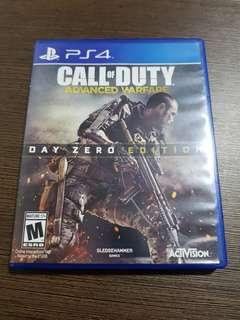 PS4 GAMES SHADOW OF MORDOR & CALL OF DUTY ADVANCE WARFARE (DAY ZERO EDITION)