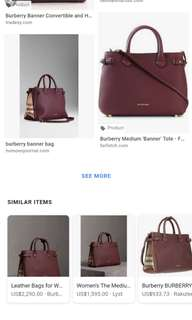 Burberry Banner Violet Bag