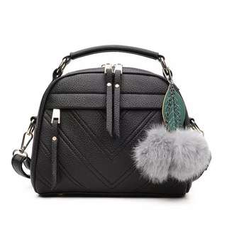 furr ball korean sling bag
