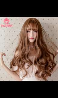 'Preorder korean big wave fluffy ladies wig * waiting time 15 days after payment is made *chat to buy to order