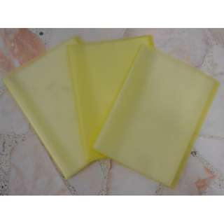 CLEAR PLASTIC FOLDER WITH 20 POCKETS (3 FOR $5)