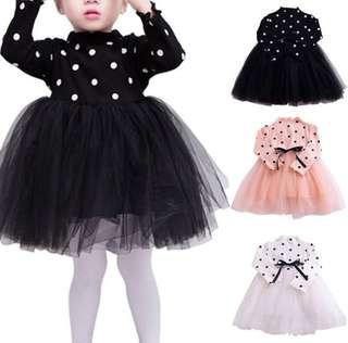 (PRE-ORDER) BABY GIRL POLKA DOT TUTU DRESS 0-36months