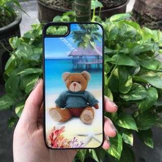 Iphone 5/5s 3D bear hard case