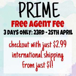 Free agent fee for ezbuy / prime / sales