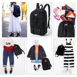 日本LEE 雜誌附錄款 簡約休閒雙肩包 大容量時尚百搭多功能旅行背包 男女同款