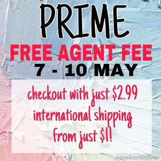 ezbuy prime free agent fee / sales