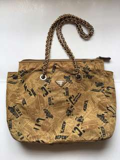 Authentic Prada Vintage Rare Large Chain Tote Bag