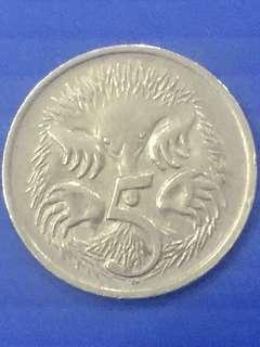 Australia 5 Cent Y1970