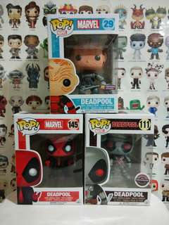 Funko Pop Deadpool Unmasked Suit Bundle Sale Gamestop PX Exclusive Vinyl Figure Collectible Toy Gift Movie Comic Marvel