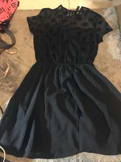 H&M Little Black Dress with Polkadot detail