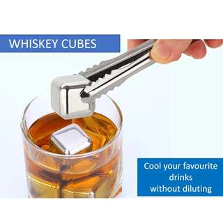 Whiskey Cubes Stainless Steel 304  for cooling your drinks without diluting it
