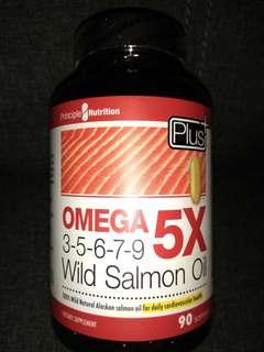 PRINCIPLE NUTRITION - OMEGA 5X 3-5-6-7-9 WILD SALMON OIL - 90 SOFTGELS