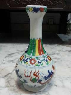 """Old Porcelain Vase 10""""老粉彩陶瓷花瓶"""
