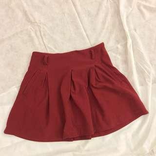 Red school girl skirt