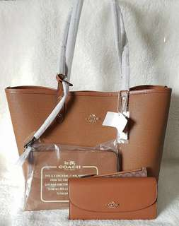COACH REVERSIBLE TOTES AND WALLET SETS