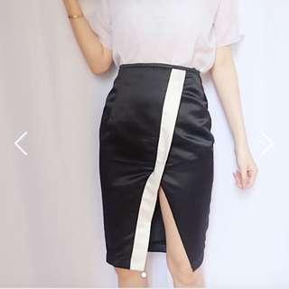 NikitaKusuma Black Satin Skirt