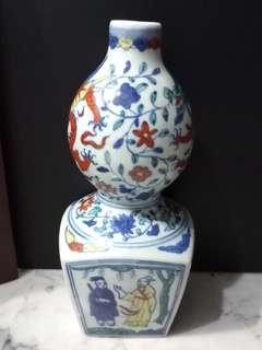 """(offer $200) Old Porcelain Vase 12"""" 老粉彩陶瓷花瓶"""