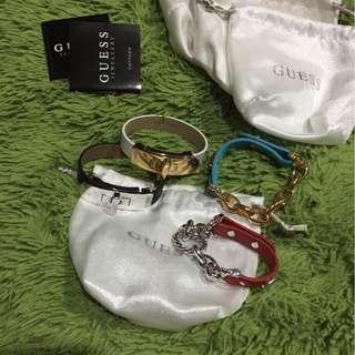 Guess leather bracelets