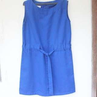 Preloved Petite Cupcakes Blue Dress