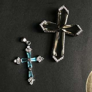 Cross hanging ornaments 925