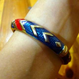 Brass Bangle Tribal Design