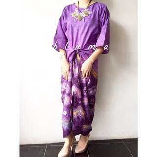 REPRICED Brand New Purple Jumputan Kaftan