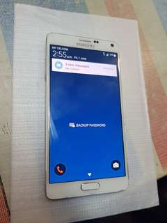 Network faulty samsung note 4 white