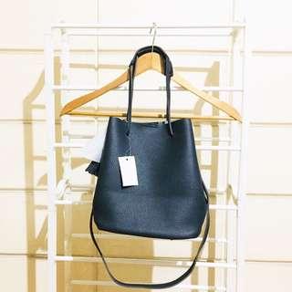 SM Parisian Black Bucket Sling Bag