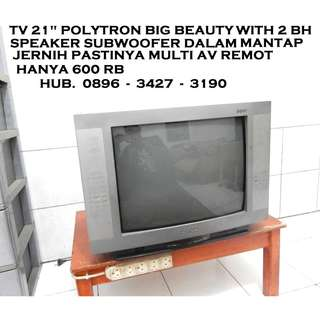 Tv 21 Polytron BiGBeauty With Spk Subwofer doble KATAPANG SOREANG